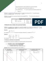 I Apuntes de Sistemas de Ecuaciones Lineales