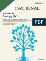 International Gcse Biology 2017 SAM
