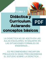 Didáctica y currículum. Aclarando conceptos básicos