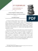 Normas y Ejemplos Para El Uso de Referencias Bibliográficas en Los TFG - Actualizado Abril 2016