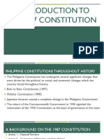 An Introduction to the 1987 Constitution