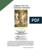 Syllabus of Renaissance Literature