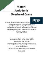 1. REV - Overhead Crane