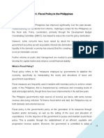 Assignment Fiscal Policy in the Philippines