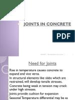Lec-11 Joints in Concrete