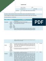 Lesson plan ESL sample