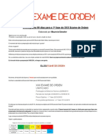 Cronograma do XXXI exame de ordem da OAB