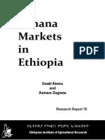 Banana Market in ethiopia