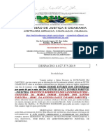 COMISSÃO DE JUSTIÇA E CIDADANIA  ARBITRAGEM   DESPACHO 6.027.375.2019