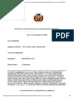 SCP 0498 2018 S1(Bolivia) Cumplimiento