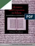 (Cambridge Studies in Islamic Civilization) Yohanan Friedmann - Tolerance and Coercion in Islam_ Interfaith Relations in the Muslim Tradition-Cambridge University Press (2003)