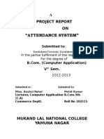 Attendence Theory