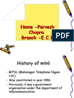 Mtnl Project Summer