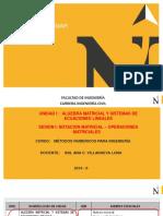 Clase 1 Notación Matricial, Operaciones Con Matrices