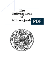 The Uniform Code of Military Justice