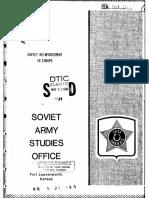 Soviet Reinforcement in Europe