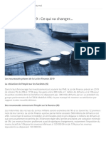 Loi de Finance 2019 _ Ce Qui Va Changer…