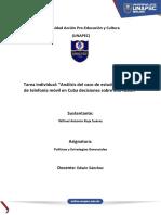 Tarea Individual. Análisis Del Caso de Estudio. Servicios de Telefonía Móvil en Cuba Decisiones Sobre Una Fusión.