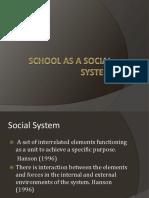 School as a Social System