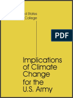 Implications of Climate Change for Us Army Army War College 2019
