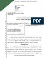 Complaint, Better Housing for Long Beach v. City of Long Beach, No. 2:19-CV-08861 (C.D. Cal. Oct. 15, 2019)