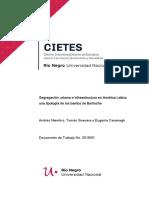 Segregación urbana e infraestructura en América Latina