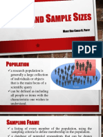 Sample and Sample Sizes