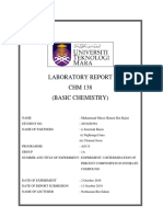 Lab Report Experiment 2 CHM 138