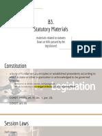 B3. Statutory Materials