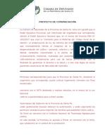 Cannabis - Comunicación Al Pen - Permiso Para La Provincia Para Cultivar