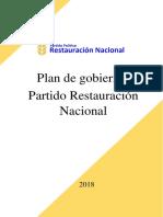 Plan de Gobierno, 2018
