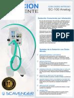 Catalogo Scavenger SC-100 - Sedación consciente con Óxido Nitroso - Scavenger