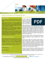 EnviroMail 108 Odour Testing in Drinking Water