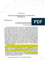 Elección, Mantenimiento y Sustitución de Lenguas.