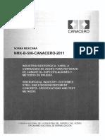 NMX-B-506-CANACERO-2011