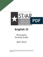 English II Persuasive Scoring Guide