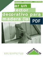 Anon - Aplicacion de Protectores Decorativos Para Madera