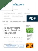 15 Jaw Dropping Health Benefits of Papaya Leaf - The-Benefits.com