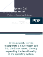 Adding a System Call to Linux Kernel