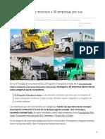 Transporte Limpio de SEMARNAT  reconoce a 30 empresas por sus resultados