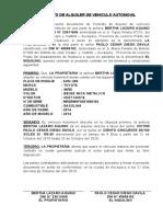 Contrato de Alquiler de Vehiculo Automovil