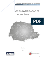 Estudo Efetividade Da Investigacao de Homicidios