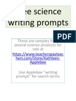 Free 20 Full Color Science Writing Prompts