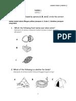 Kertas Ujian Sains Tahun 1