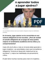 ¿Deberían aprender todos los niños a jugar ajedrez? - BBC News Mundo