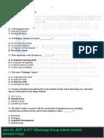 Pedagogy MCQs for JEST Test 1
