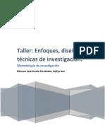Taller Enfoques Diseño y Tecnicas de Investigacion (1)