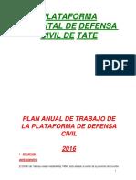 Plan anual de trabajo de la plataforma de Defensa Civil de Tate 2016.pdf