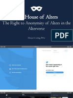 The House of Alters Thesis Defense