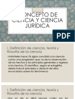 Concepto de Ciencia y Ciencia Jurídica